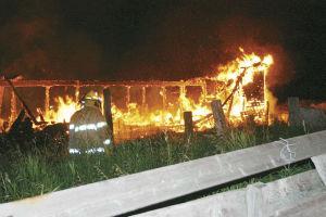 Arson suspected in late night barn fire