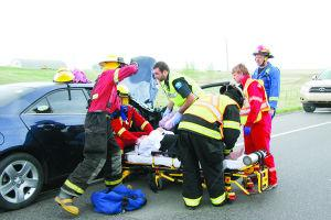 Collision results in Minor Injuries