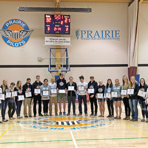 "Prairie Pilots celebrate graduating athletes with ""Flight Night"""