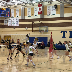 Three Hills School hosts ACAC showcase between Red Deer College Queens and Olds College Broncos women's volleyball teams