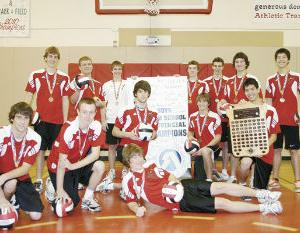 Acme Senior Boys Volleyball bring home Provincial Gold