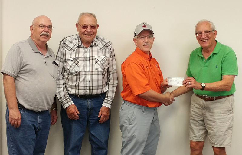 Trochu Elks Food Bank Donation