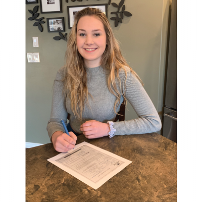 Avery Bates signs with Lakeland College Rustlers Woman's Volleyball