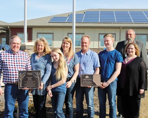 Dennis Berdahl family presented with Century Farm Award