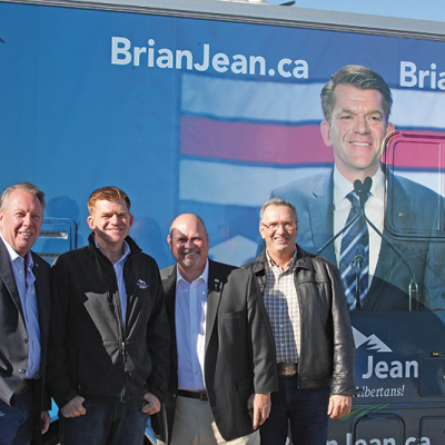 Brian Jean makes whistle stop in Three Hills